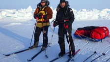Jake Thompson & Steve Bennett whilst on their trek to the North Pole.