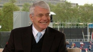 John Major speaking to Julie Etchingham and Phillip Schofield