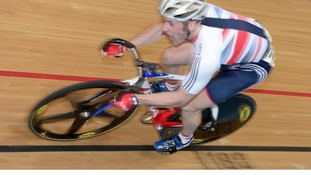 Jason Kenny in action in VeloPark in London