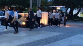 England arrive in Miami before Brazil World Cup