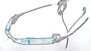 A sketch of Jame Dyson's smart glass invention, designed in 2001.