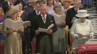 The Queen, the Prince of Wales and the Duchess of Cornwall.