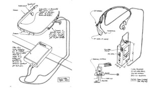 Sketches show the design for the headset, which had the secret project name N066.
