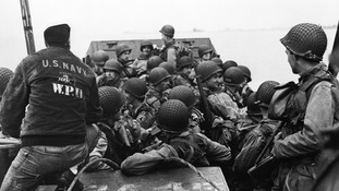 Capa joined the men as they travelled from Weymouth to Normandy.