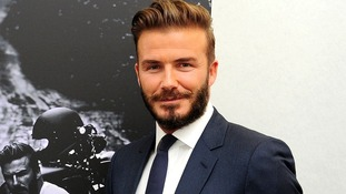 David Beckham at the Serpentine Sackler Gallery in London.