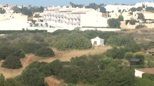 Police are searching a large area of waste land in Praia da Luz.
