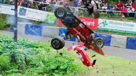 Driver's lucky escape after high-speed hillclimb race crash