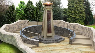 A proposed design of a new war memorial in Bramley Park.