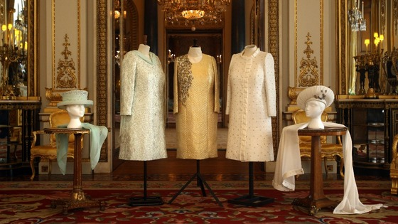 The Queen's Jubilee dresses.