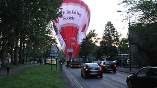 Hot air balloon emergency landing in Bath city centre