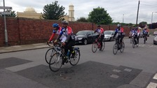 The cyclists are attempting 600 miles in 7 days
