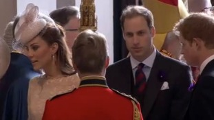 Kate, Wills, Harry at St Paul's Cathedral