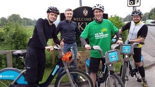 Boris Bike challenge scuppered because the M1 was shut