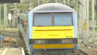 A Class 90 loco on the Norwich to London line