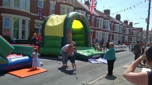 The kids were well catered for at this street party on the Wirral
