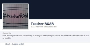 The letter was published on the Facebook page of the Teacher Roar group.