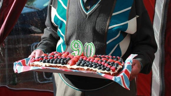 And here's his amazing Jubilee cake......