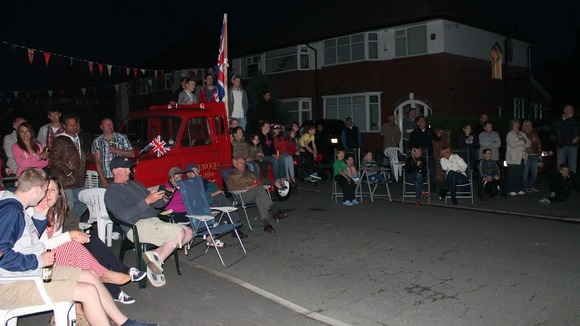 Celebrations went on long into the night at Carlton Avenue in Fulwood, Preston
