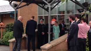 Prince William meets officials at Centrepoint