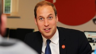 Prince William pictured on a visit to East Yorkshire today.