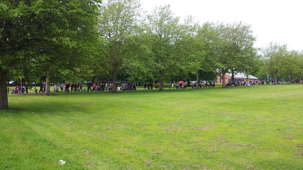 The human chain at Osmaston Park