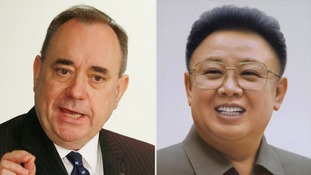 Alex Salmond described the comparison to North Korea's former leader as 'pathetic'.