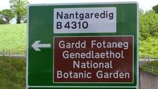 Nantgaredig sign