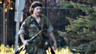 Police in Canada looking for searching for Justin Bourque, 24, released this image.