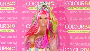 Katie Price at the launch of Colour B4 Hair Remover - she is their first global ambassador.