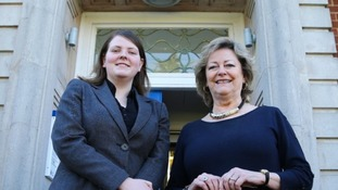 Kerry Boyd, 19, (left) with Ann Barnes, Kent Police and Crime Commissioner.