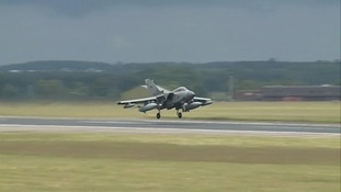 A Tornado from 2 Squadron at RAF Marham in Norfolk's recreated a reconnaissance mission.