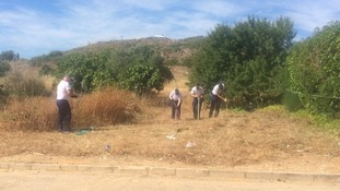 The search for missing Madeleine McCann continues on wasteland in Praia da Luz, Portugal.