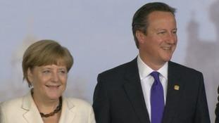 German Chancellor Angela Merkel and Prime Minister David Cameron.