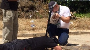 Police send cameras into a drain in the search for Madeleine Mccann.