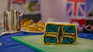 Union flag battenburg cake