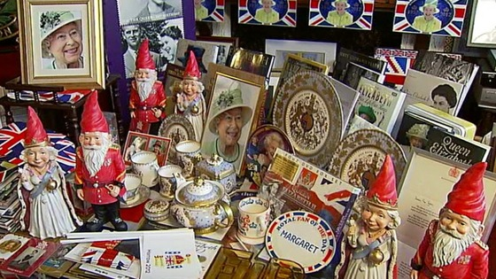 Royal china, photographs, books - and gnomes.