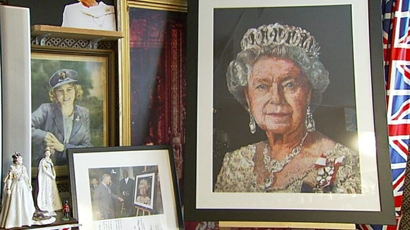 A collection of royal portraits.