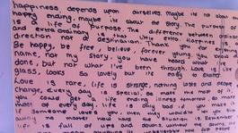 Girl writes secret notes to parents while battling cancer