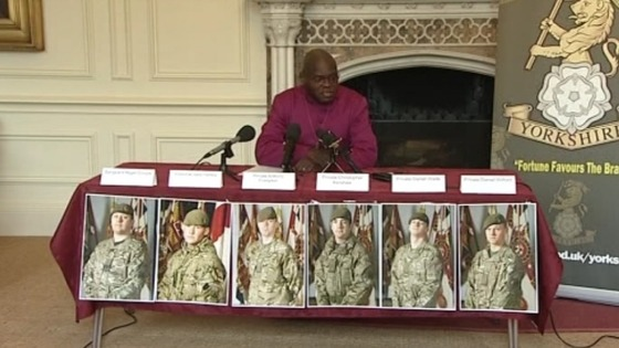 John Sentamu, Afghan Six
