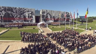 Hundreds of French war veterans attended the D-Day memorial service.