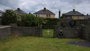 The site of a mass grave for children who died in the Tuam mother and baby home, Galway, Ireland.