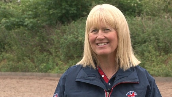 Angela Weiss, a dressage trainer from Nottingham will join the Royal family at lunch today