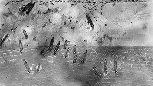 Image taken on June 6, 1944, of Sword Beach as the D-Day landings happened.
