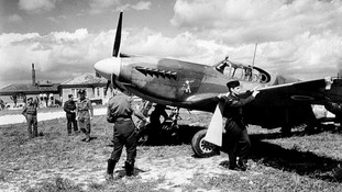 A Mustang aircraft being prepared for Normandy mission - the pictures were taken from one of these aircrafts.