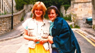 Police handout of Susie Lecomber (right), now aged 47, with best friend Melanie Road pictured together in Lansdown, Bath in 1983.