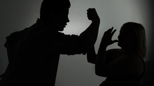 Silhouette image of couple fighting