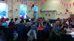 An indoor party in Ebbw Vale
