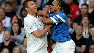 TV presenter Jonathan Wilkes clashed with Edgar Davids several times
