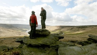 David Jones (centre) pictured on Saddleworth Moor during a search in March 2010.