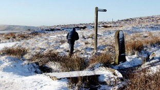 Photo of  Saddleworth Moor taken December 2001.